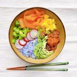 Regenboog Pokébowl van Zoe's bowls
